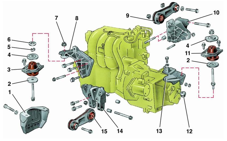 Крепление двигателя